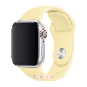 NEW Pale Lemon Yellow Apple Watch Sport Band